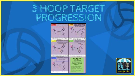 3 hoop target web