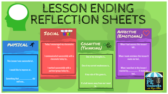 Lesson Ending Reflection Sheets