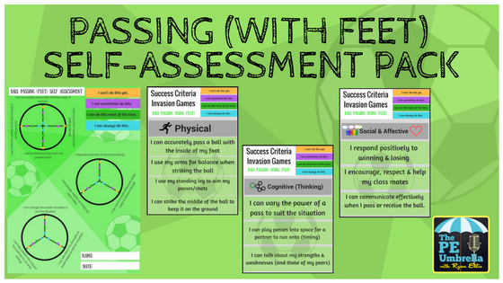 Passing With Feet Self Assessment web